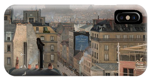 See iPhone Case - Paris Seen From Montmartre, 1887  by Antonin Chittussi