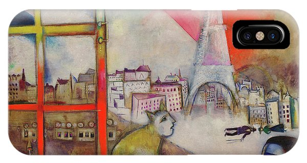 iPhone Case - Paris Through The Window - Paris Par La Fenetre, 1913 by Marc Chagall