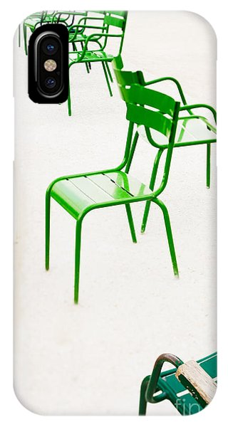 Park Bench iPhone Case - Parisian Metallic Chairs. Photo With by Anatoli Styf