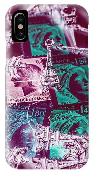 French iPhone X Case - Parisian Postmarks by Jorgo Photography - Wall Art Gallery