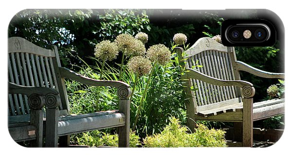 Park Benches At Chicago Botanical Gardens IPhone Case