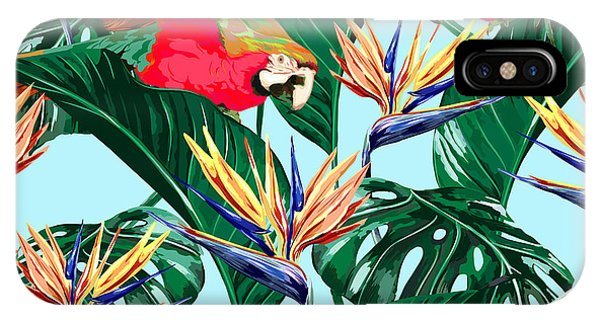 Parrots iPhone Case - Parrots, Exotic Birds, Tropical by Nataliako