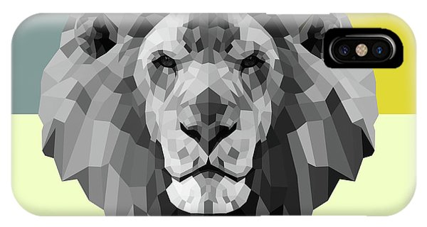 Lynx iPhone Case - Party Lion by Naxart Studio