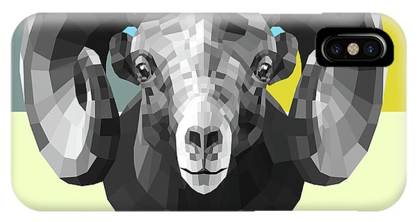 Lynx iPhone Case - Party Ram by Naxart Studio