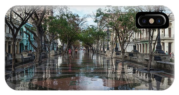 Prado iPhone Case - Paseo Del Prado After A Rain, Havana by Panoramic Images