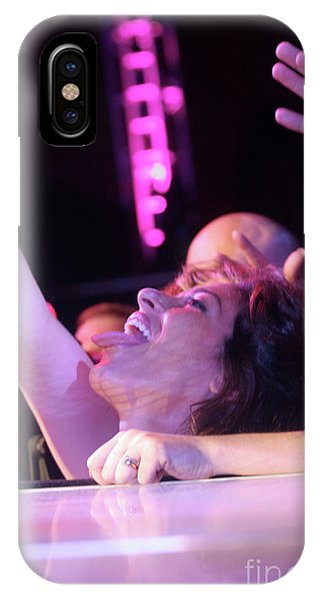 Steven Tyler iPhone Case - Passionate Front Row Fan by Concert Photos