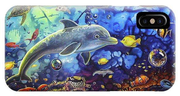 Past Memories New Beginnings Dolphin Reef IPhone Case