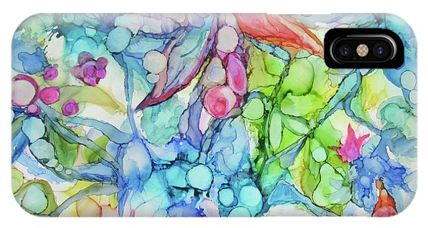 Pastel Flowers - Alcohol Ink IPhone Case