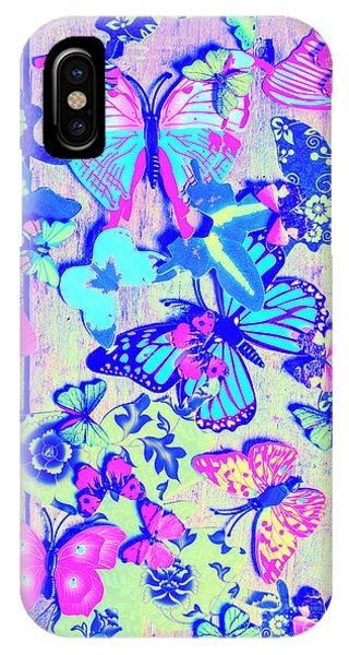 Pastel iPhone Case - Pastel Wings And Button Butterflies by Jorgo Photography - Wall Art Gallery