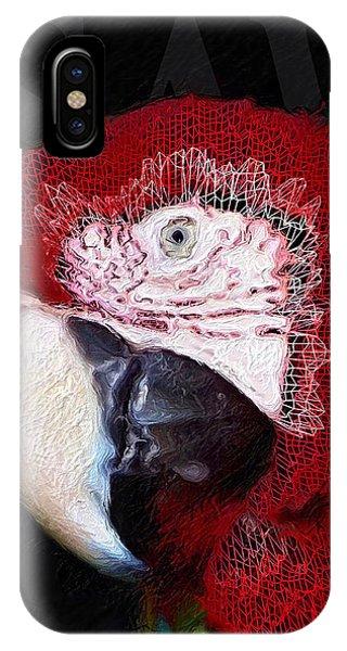 Patchwork Parrot IPhone Case
