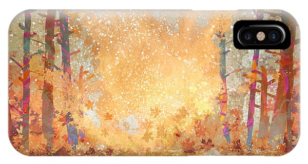 Texture iPhone Case - Pathway In Autumn Forest,landscape by Tithi Luadthong