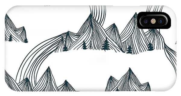 Simple Landscape iPhone Case - Pattern Graphic Mountain Landscape by Illustration One Love