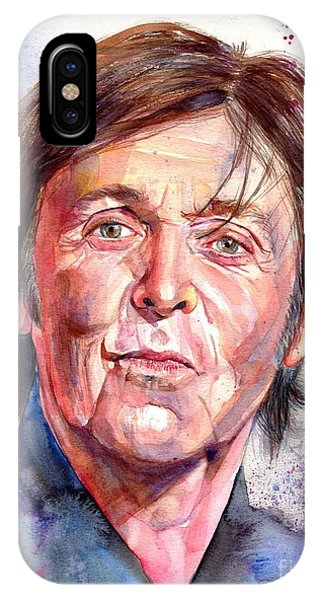 Harrison iPhone Case - Paul Mccartney Watercolor by Suzann Sines