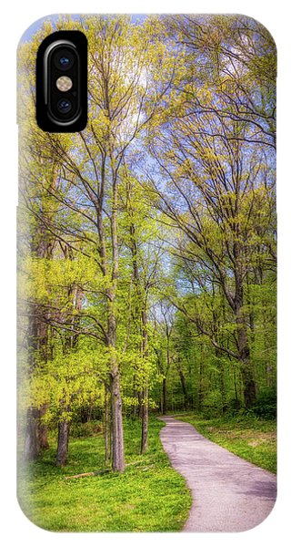 Hiking Path iPhone Case - Peaceful Pathway by Tom Mc Nemar