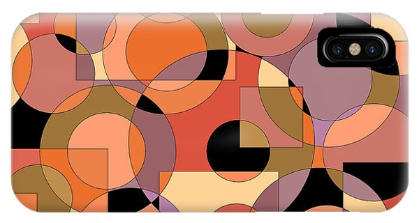 Peach Circle Abstract IPhone Case