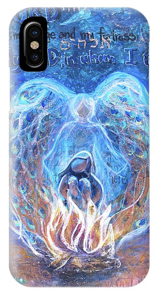 Peacock Angel    Cooler Version IPhone Case