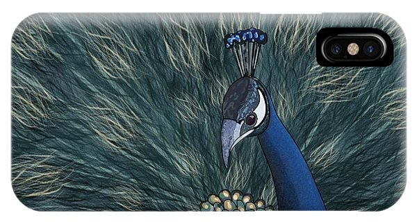 iPhone Case - Peacock  Digital Change2 by Joan Stratton