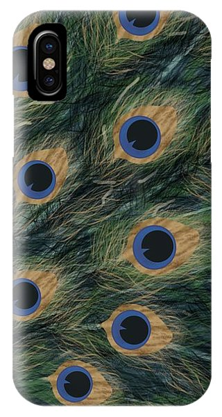 iPhone Case - Peacock  Digital Change4 by Joan Stratton