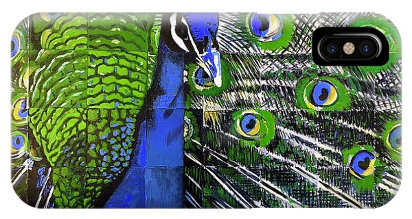 IPhone Case featuring the painting Peacock by Dustin Miller