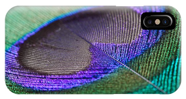 Seamless iPhone Case - Peacock Feather Closeup by Clickmanis