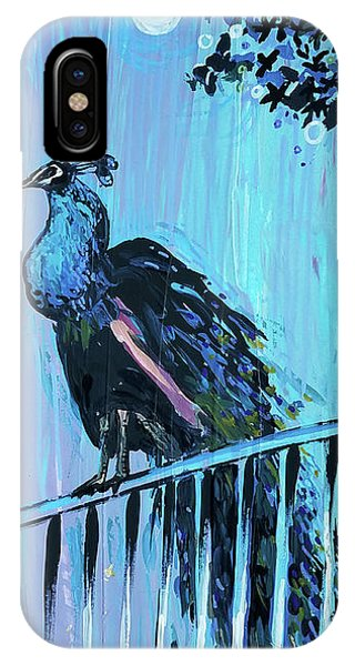Peacock On A Fence IPhone Case