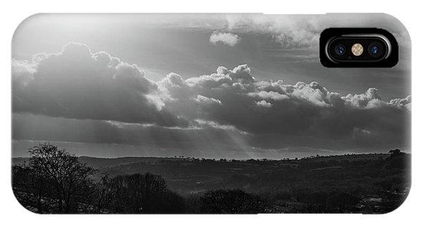 Peak District From Black Rocks In Monochrome IPhone Case