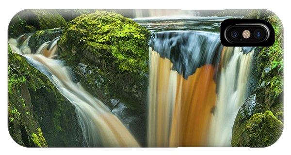 Pecca Twin Falls, Ingleton Phone Case by David Ross