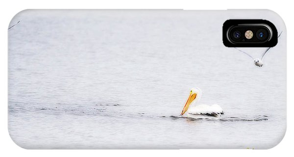 IPhone Case featuring the photograph Pelican Mouth Full by Edward Peterson