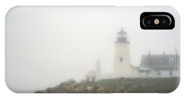 Pemaquid Point Lighthouse In The Fog IPhone Case