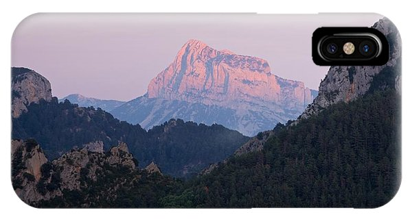 IPhone Case featuring the photograph Pena Montanesa Glowing Red by Stephen Taylor