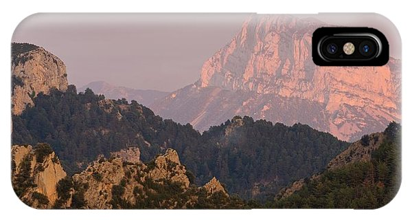 IPhone Case featuring the photograph Pena Montanesa Sunset Panorama by Stephen Taylor