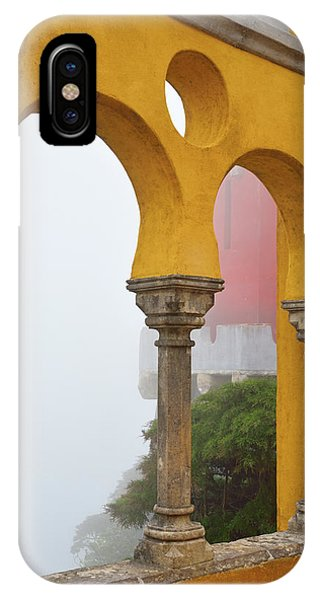 iPhone Case - Pena Palace In Fog by Kathy Yates