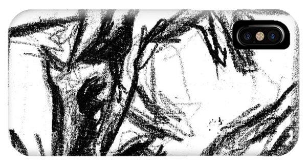 Pencil Squares Black Canine F IPhone Case
