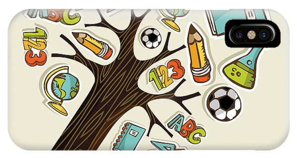 Sketch Book iPhone Case - Pencil Tree Shaped Made With School by Cienpies Design