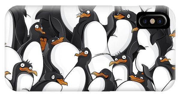 Freeze iPhone Case - Penguins Pattern by Yuanden