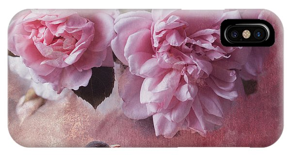 Peony iPhone Case - Peonies And Blackbird by Mihaela Pater