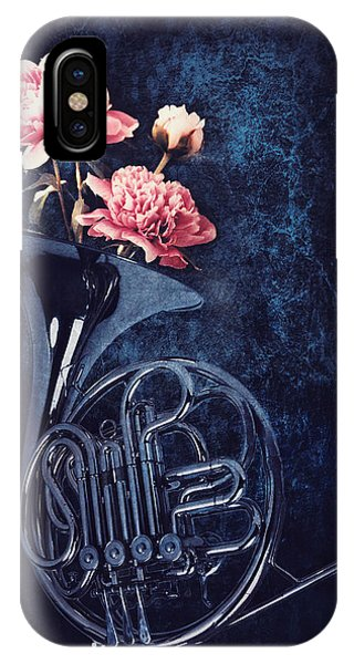 Peony iPhone Case - Peonies In A Trumpet by Mihaela Pater