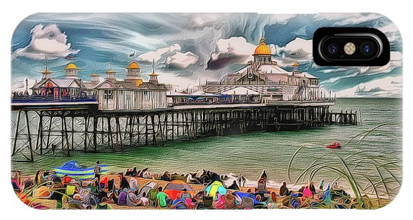 IPhone Case featuring the photograph People And The Pier by Leigh Kemp