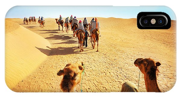 East Africa iPhone Case - People In The Sahara Desert by Adisa