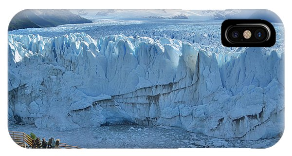 Argentina iPhone X Case - People Looking At The Perito Moreno by Olga Kot Photo
