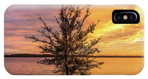 Percy Priest Lake Sunset Young Tree IPhone Case