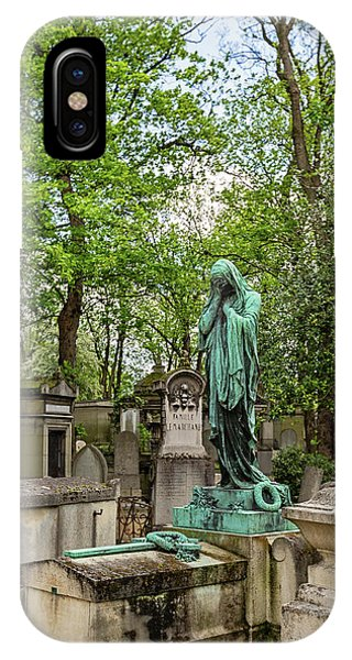 IPhone Case featuring the photograph Pere Lachaise Cemetery I - Paris France by Melanie Alexandra Price