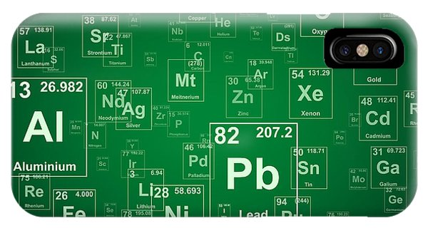 Atomic iPhone Case - Periodic Table Of The Elements. Green by Jason Winter