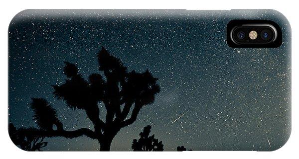 Shooting iPhone Case - Perseid Meteor Shower by Kesterhu