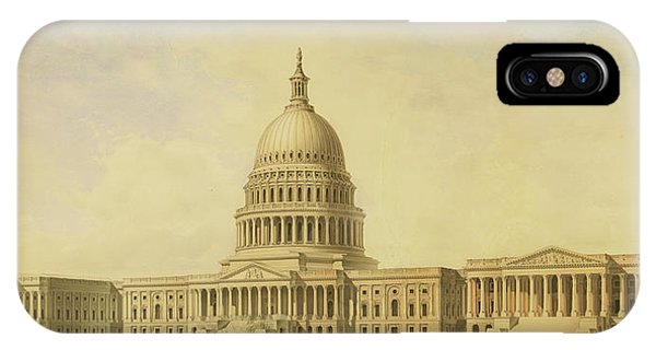 Perspective Rendering Of United States Capitol IPhone Case