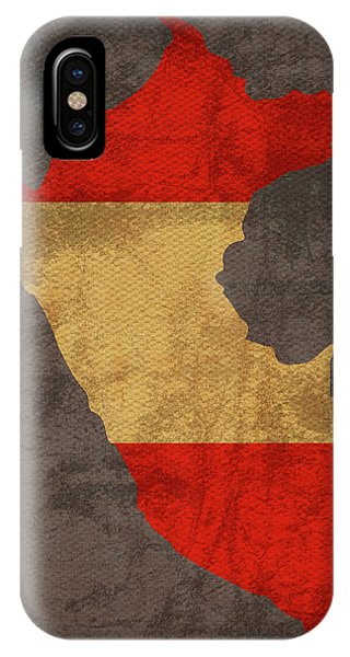 Peru iPhone Case - Peru Country Flag Map by Design Turnpike
