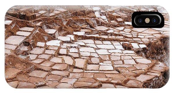 Salt Water iPhone Case - Peru, Salinas De Maras, Pre Inca by Rafal Cichawa