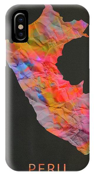 Peru iPhone Case - Peru Tie Dye Country Map by Design Turnpike