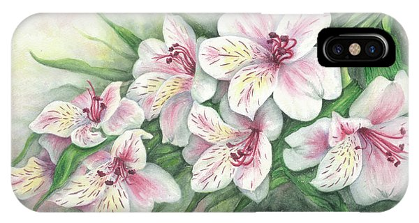 Peruvian Lilies IPhone Case