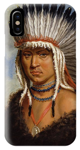 King Charles iPhone Case - Petelesharro, Generous Chief, 1822 by Charles Bird King